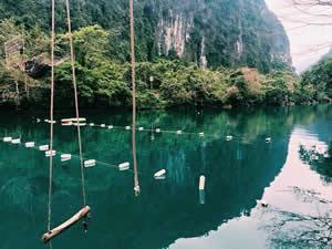 Le ruisseau Nuoc Mooc- le paradis vert au Vietnam