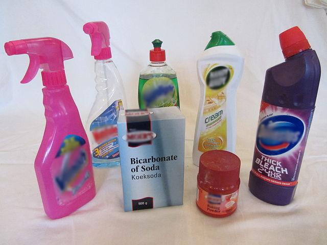 Différents produits ménager